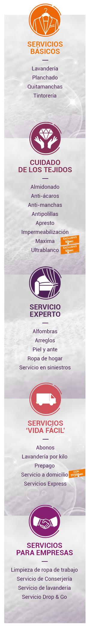 servicios y cuidado textile
