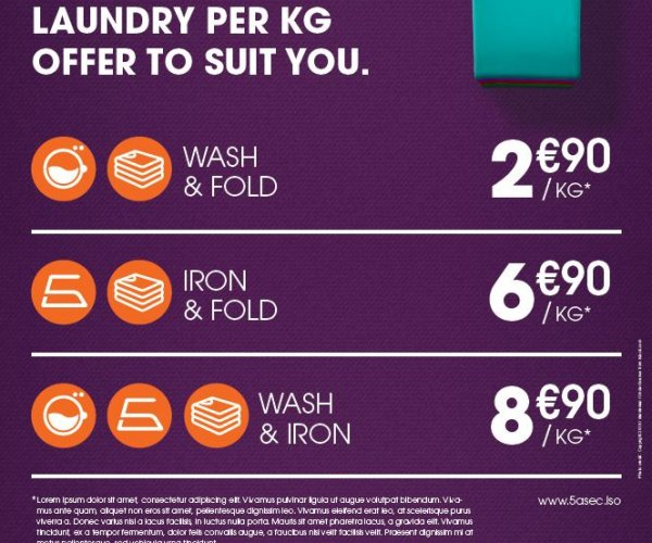 Laundry per kilo formulas